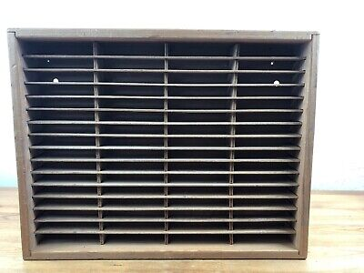 NAPA VALLEY BOX CO. 64 Cassette Tape Wood Storage Holder Wall Mount Rack