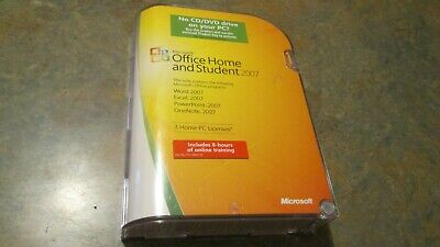 Microsoft Office Home and Student 2007 retail version (3 Home PC Licenses)