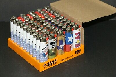5 X BIC Texas Theme Special Series Assorted Set Pack Of Full Size Lighters - NEW