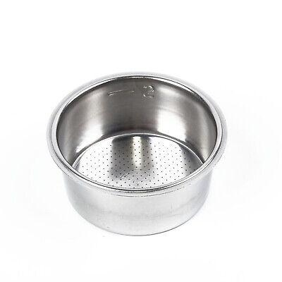 Coffee 5.1cm Stainless Steel Filter Basket For Breville Delonghi Krups Silver