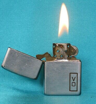 VERY Rare Collectable Vintage 1940's Chrome Advertising Zippo Lighter.