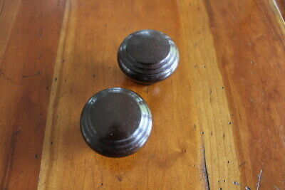 Pair of Vintage Art Deco Bakelite Dark Brown Door Knobs