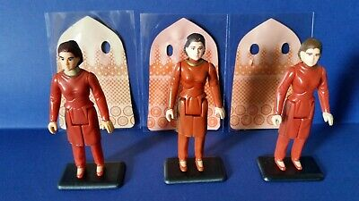 STAR WARS  vintage - PRINCESS LEIA - BESPIN 3X FIGS + 3X CAPES-3x COO's + stands