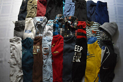 Used 27 Pc. Lot Of Baby Boy Clothes 3-6 Months Euc/vguc