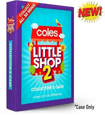 New Coles Little Shop 2 Mini Collectable Collector Case Only Collector's Box