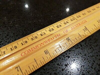 Vintage Wooden Ruler - Commonwealth of Australia - 7 in total