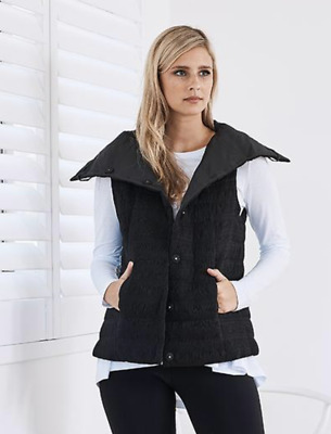LOUNGE THE LABEL   Milan Black Padded Textured Vest RRP$229 Great Condition