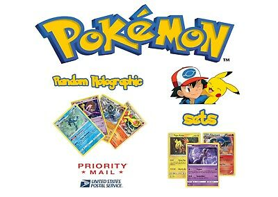 Pokemon Random Holographic Lot of 8 and 1 Promo Card