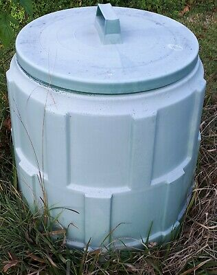 Compost Bin with Lid, 60cm tall, 50cm diameter. Door at the side on the...