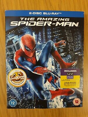 THE AMAZING SPIDER-MAN (2-disc Blu-ray, 2012) *new and sealed*