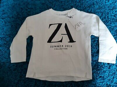 Bnwt zara Kids White Top T Shirt Blouse Size 6 Years # Collection Summer 2019