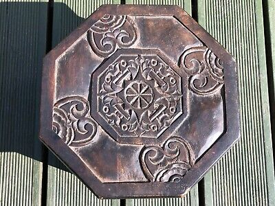 Antique wood carved stool stand tribal indigenous African? Indian? Unusual gift