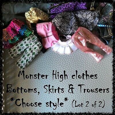 MONSTER HIGH Doll Clothes, Skirts,Trousers (Lot 2/2) ~SELECT STYLE~ 1 Item incl.