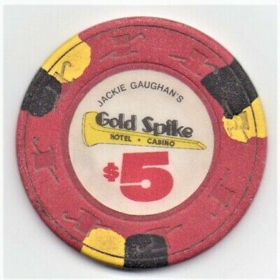 Gold Spike Hotel Casino Las Vegas 5 Dollar Gaming Chip As Pictured