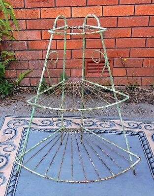 Vintage Rustic Wrought Iron Plant Stand