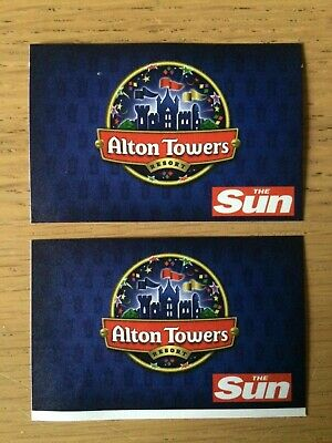 2 tickets to Alton Towers Saturday 14th September