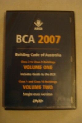- Building Code Of Australia [2007] Vo1 1 & 2 [Pc Cd-Rom] As New [Aussie Seller]