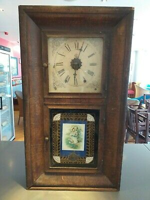 new england american WATERBURY CONNECTICUT CONN  new haven WALL SHELF CLOCK