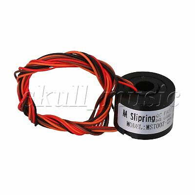 17 x 22 mm Metal Plastic 4 Wires 220V 1.5A Capsule Slip Ring 7mm Hole Dia