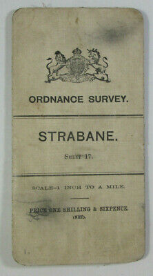 1900 Old OS Ordnance Survey Ireland One-Inch Second Edition Map 17 Strabane
