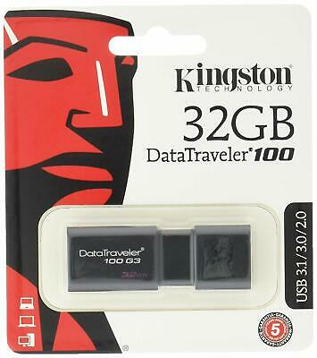 Cle USB 32 GO Kingston  DataTraveler 100 G3 USB 3.1 / USB 3.0 compatible USB 2.0