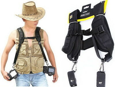 Double Camera Shoulder Dual Neck Strap Quick Sling Strap Belt For Sony Canon SLR