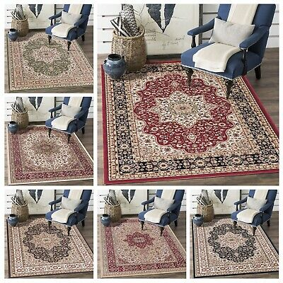 Traditional Floral Carpets Runner Square Mat Thick Rome Large Area Rugs All Size