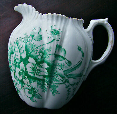 Antique Dainty Violets Creamer Milk Jug MEIR BB China c1880 English