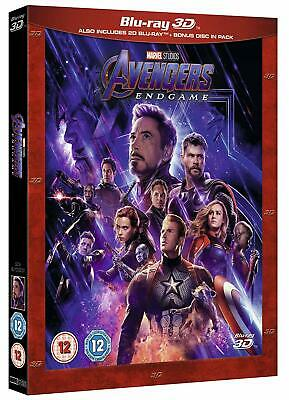 Avengers Endgame (Blu-ray 2D/3D; Bonus Disc) MARVEL!! BRAND NEW!!