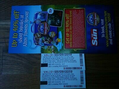 Alton Towers Tickets For Tuesday 3rd September 3/9/19