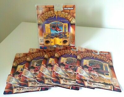 Harry Potter View Master Sorcerer's Stone viewer and 25 3D cards