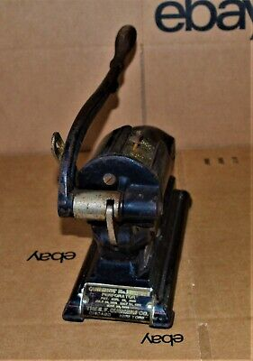 VTG 1892 Cummins No 2 Special Perforator Check Cancelling Machine Project