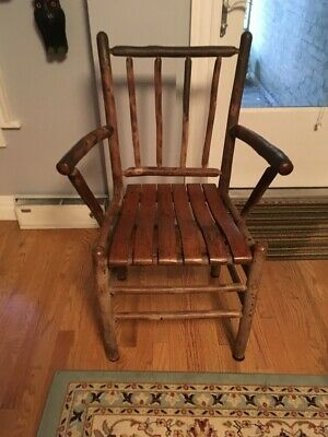 Genuine Old Hickory Arm Chair Martinsville, Indiana - Signed