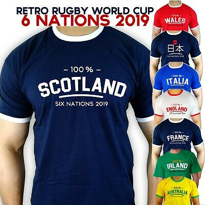 Rugby World Cup 2019 team retro T-shirts 6 nations scotland team fancy fan tee