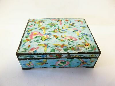 Hübsche asiatische Email Tabakdose-vintage-China-lovely enameled tobacco box