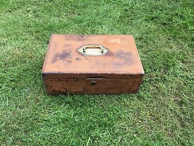 Antique Leather Covered Wooden Writing Box with Brass fittings for Restoration