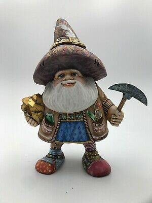 """9.5""""  Wooden Russian Dwarf   (Father Frost, Ded Moroz) Hand carved  Christmas"""