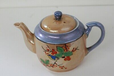 Vintage Hand Painted Teapot With Bird & Branches, made in Japan (D8/Aug)