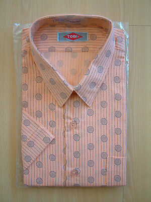 1980's SHIRT..80's COLLAR..SIZE LARGE..80'S PATTERN..NEW OLD STOCK