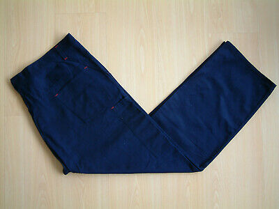 """1960's ENGINEER WORKWEAR TROUSERS BY CAMPARI..46""""..BUTTON FLY/BRACES..RED STITCH"""