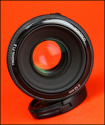 Yongnuo YN 50mm F1.8 Autofocus Lens for Canon EF With Front  Caps