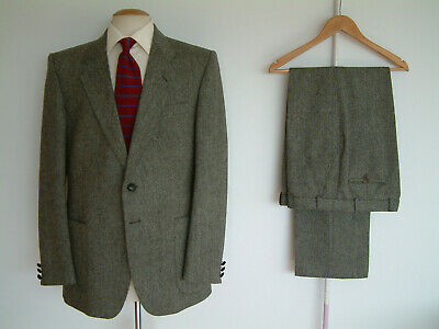 """DONEGAL TWEED SUIT..42"""" x 36""""..MADE IN ENGLAND..GOODWOOD..LEATHER BUTTONS..CHAP"""