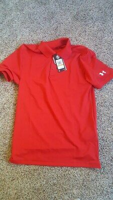 Under Armour Red Mens small polo shirt brand new with tags