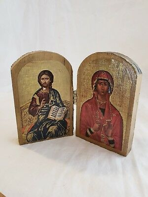 VTG Byzantine Religious ICON Small Reproduction Plaques Excellent Condition Art