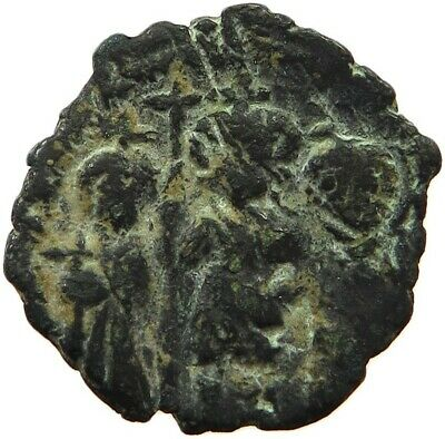 BYZANTINE EMPIRE HERACLIUS 610-641 FOLLIS XXV VERY RARE  #sg 005