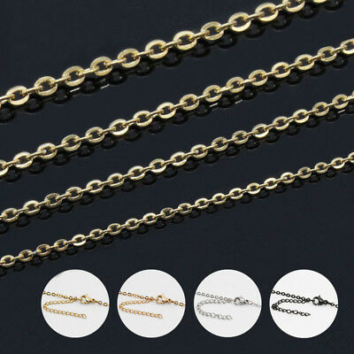 10pcs lots Wholesale Silver/Gold Stainless Steel Rolo Necklace Extender Chain
