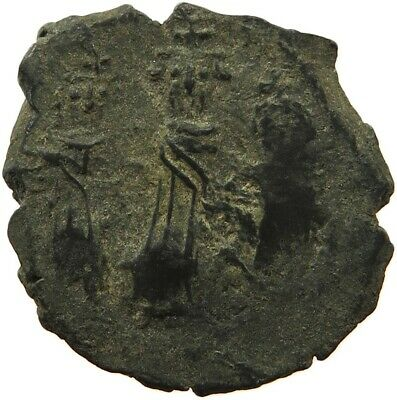 BYZANTINE EMPIRE HERACLIUS 610-641 FOLLIS YEAR XVI. R #sg 093