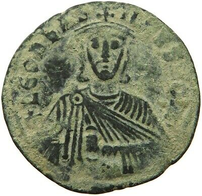 BYZANTINE EMPIRE LEO VI. 886-912 FOLLIS RATTO 1873 MESSING  RR #sg 287