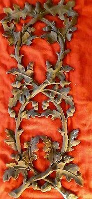 Vintage Cast Iron Architectural Salvage Acorns and Leaves Decorative Fencing