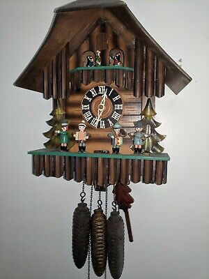 Vintage Cuckoo Clock Germany musical with dancers and band.